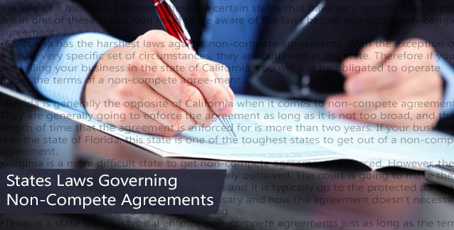 States Laws Governing Non-Compete Agreements